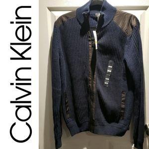 BNWT Calvin Klein Zip Up Sweater